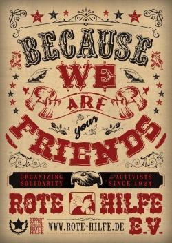 Rote Hilfe Plakat 'Western'